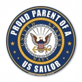 Proud Parent of a U.S. Sailor Circle Magnet