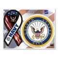 Navy Combo Mini Ribbon/Circle Magnet