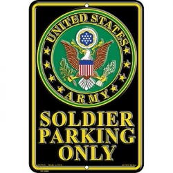 "SIGN-ARMY, PARKING ONLY (SMALL) (8""X12"")"
