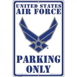 "SIGN-U. S. AIR FORCE PARKNG (8""X12"")"