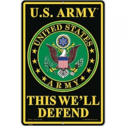 "SIGN-ARMY, THIS WE'LL DEFEND (XLG) (12""X18"")"