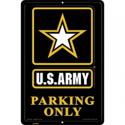 "SIGN-ARMY, PARKING ONLY, II (XLG) (12""X18"")"