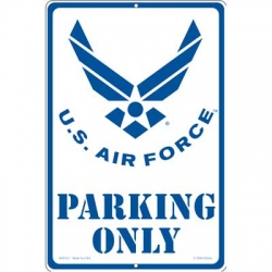 "SIGN-U. S. AIR FORCE PARKNG (12""X18"")"