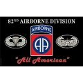 ARMY 82ND AIRBORNE , ALL AMERICAN FLAG (3ftx5ft)