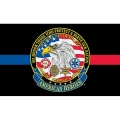 AMERICAN HEROES (3ftx5ft) Thin Red and Blue Line Flag