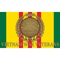 VIETNAM WAR VETERANS FLAG (3ftx5ft)