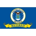 USAF RETIRED (3ftx5ft) FLAG
