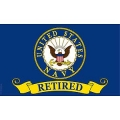 NAVY RETIRED FLAG (3ftx5ft)
