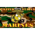 USMC CAMO,WOODLAND (3ftx5ft) FLAG