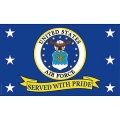 USAF SERVED W/PRIDE FLAG (3ftx5ft)