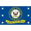 NAVY SERVED W / PRIDE (3ftx5ft) FLAG