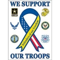 "BANNER- SUPPORT THE TROOPS (29""X42-1/2"")"