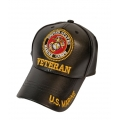 LEATHER MARINE VETERAN HAT