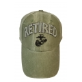 RETIRED MARINE HAT - OD GREEN