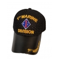 1ST MARINE DIV. HAT WITH LEATHER BILL