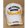RETIRED MARINE HAT - WHITE