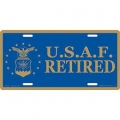 LICENSE PLATE - AIR FORCE RETIRED