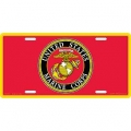 LICENSE PLATE - MARINE CORPS RED