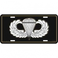 LICENSE PLATE - ARMY , AIRBORNE WINGS