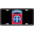 LICENSE PLATE - ARMY , 82ND AIRBORNE