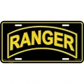 LICENSE PLATE - ARMY RANGER