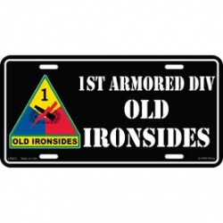 LICENSE PLATE - ARMY , 1ST ARMORED  DIVISION