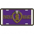 LICENSE PLATE - PURPLE HEART MEDAL