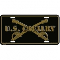 LICENSE PLATE - ARMY  CAVALRY SWORDS