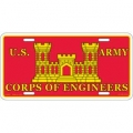 LICENSE PLATE - ARMY , CORPS OF ENGINEERS