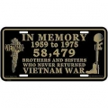 LICENSE PLATE - VIETNAM IN MEMORY