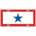 "LICENSE PLATE - FAMILY MEMBER BLUE STAR SERVICE (6""X12"")"