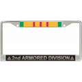 2ND ARMORED VIETNAM LICENSE FRAME
