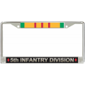 5TH INFANTRY VIETNAM LICENSE FRAME