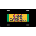 Camp Carroll Vietnam License Plate