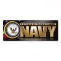 Navy Chrome Bumper Strip Magnet