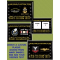NAVY - COMPLETE CUSTOM PLAQUE - HORIZONTAL