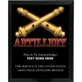 ARTILLERY - ARMY CUSTOM SERVICE PLAQUE
