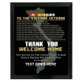 WELCOME HOME - VIETNAM VETERAN CUSTOM SERVICE PLAQUE