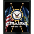 NAVY PROUDLY SERVED CUSTOM SERVICE PLAQUE