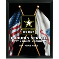 ARMY PROUDLY SERVED CUSTOM SERVICE PLAQUE