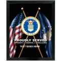 AIR FORCE PROUDLY SERVED CUSTOM SERVICE PLAQUE