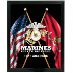 MARINE CORPS PROUDLY SERVED CUSTOM SERVICE PLAQUE