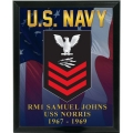 CUSTOM NAVY RATE & RANK SERVICE PLAQUE - PICTURE IS AN EXAMPLE