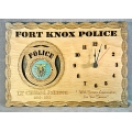 POLICE CLOCK - ADD PERSONALIZATION - 8X12