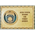CUSTOM POLICE OR POLICE WIFE 8X12 PLAQUE - ADD YOUR OWN POEM OR TEXT