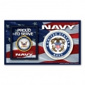 NAVY PHOTO FRAME MAGNET