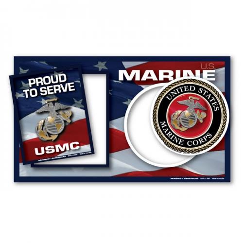 Marine Corps Photo Frame Magnet