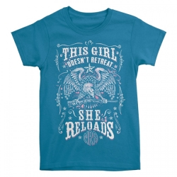 THIS GIRL DOESN'T RETREAT, SHE RELOADS T-SHIRT