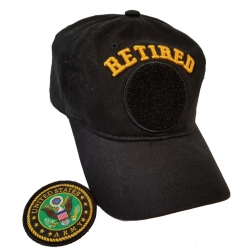 ARMY RETIRED VELCRO HAT WITH PATCH