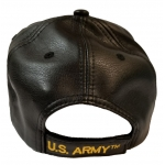 ARMY RETIRED BLACK LEATHER HAT